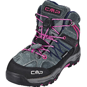 CMP Campagnolo Rigel Mid Trekking WP Shoes Kids grey-hot pink